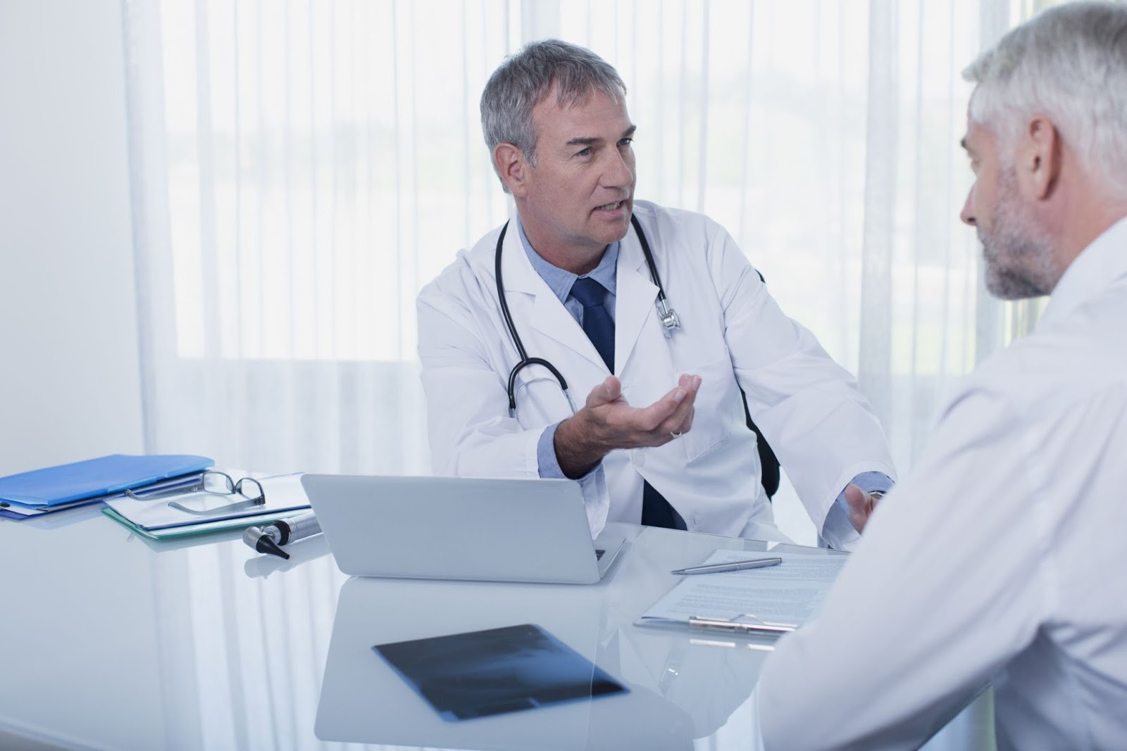 Doctor Prescribing the Patient in his Clinic