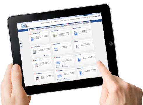 MTBC EMR Software on Tablet