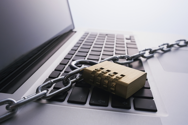 Laptop is Locked with Chain