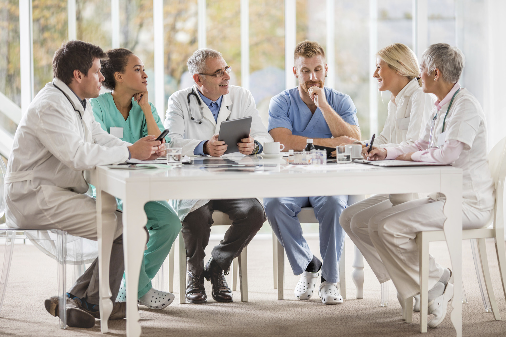 Physician and Doctors are in a Meeting
