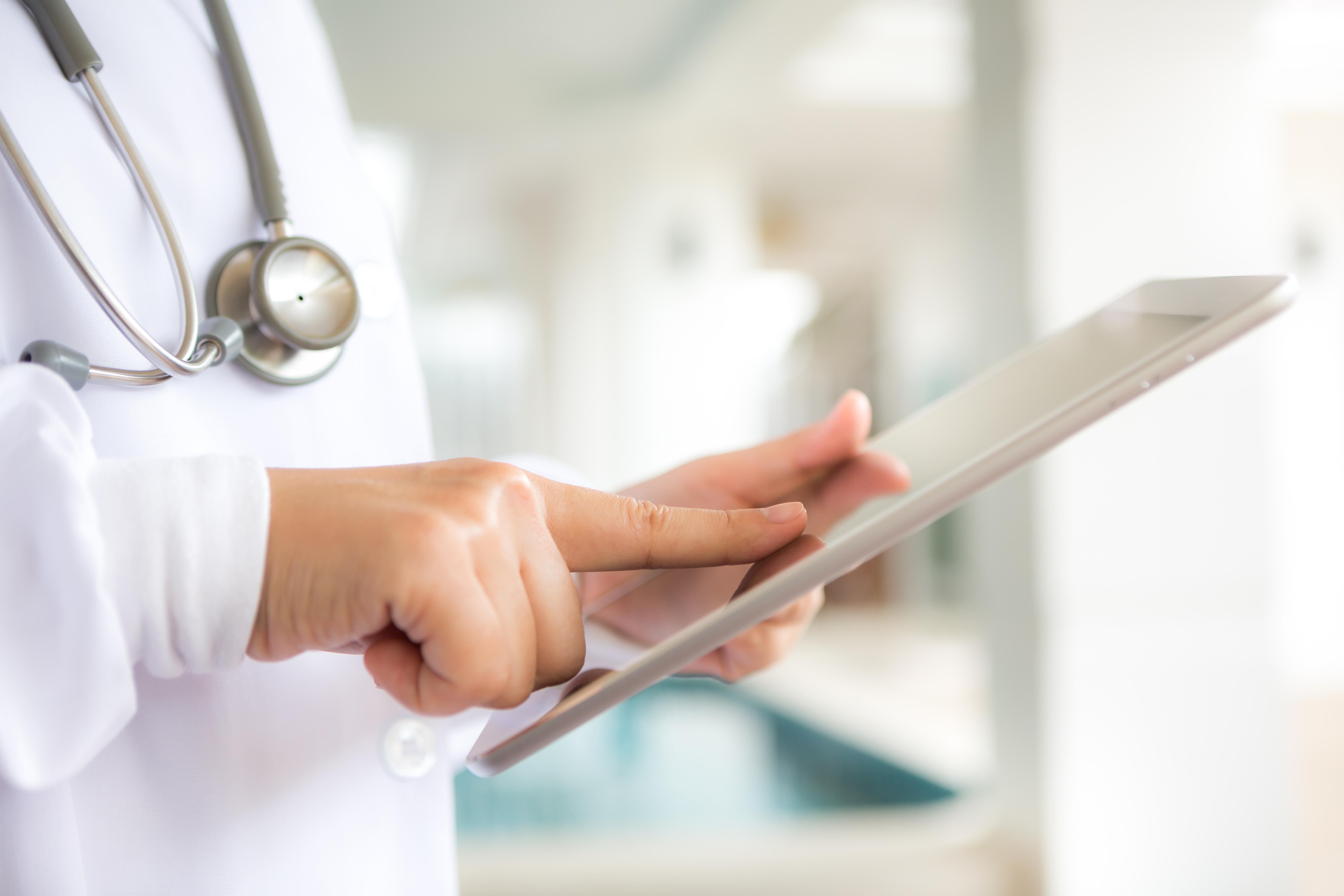 Doctor using EHR Software